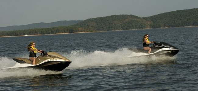 Jet Skiing on Lake Ouachita