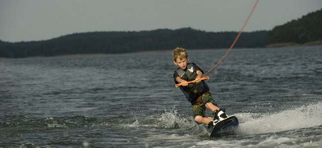 Wakeboarding on Lake Ouachita